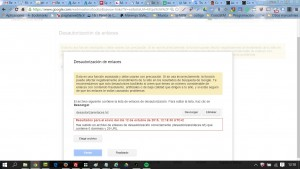Desautorizar enlaces Google Web Master